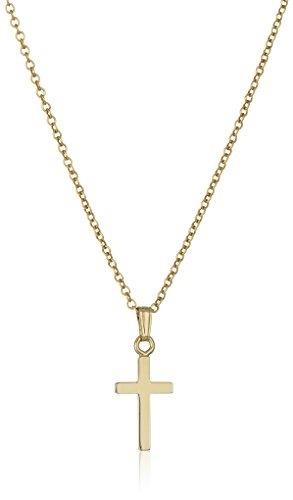 Children's 14k Gold Filled Polished Cross Pendant Necklace, 13