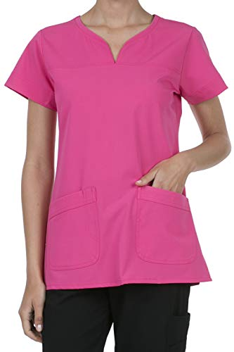 (8045 Women's Uniform Scrubs Medical 2 Pocket Scrub Top Rose)