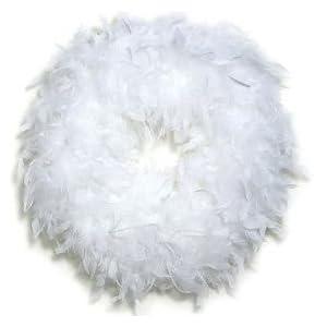 Feather Wreath White 1