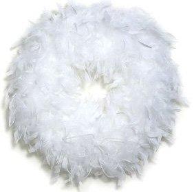 Feather-Wreath-White