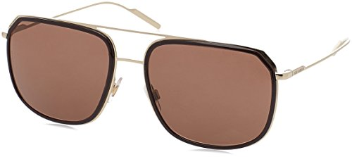 Dolce & Gabbana  Men's DG2165 Brown/Pale Gold/Brown - Dolce Gabbana Eyewear