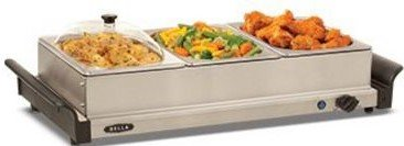 Bella 3x1-qt. Triple Buffet Server 2 Quart Chafing Dish
