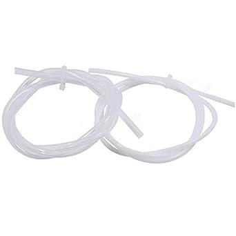 Tubo teflón PTFE filamento 1.75mm 2/4mm Impresora 3D, 2 Piezas *1 ...