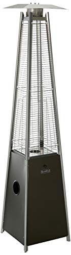 LEGACY HEATING CAPH-GT-Smocha Patio Heater, Mocha (Glass Tube Propane Heater)