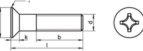 DIN 965 A2 M 8X70 Senkkopfschraube Kreuz PH EDELSTAHL V2A A2 20 Stk