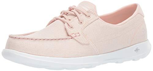 Skechers Women's GO Walk LITE-16422 Boat Shoe, Light Pink, 8.5 M US