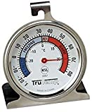 Taylor 3507 TruTemp Refrigerator/Freezer Analog Dial Thermometer with Safety Zones