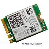 Intel Wireless Wifi Card - Intel Dual Band Wireless-AC 7260 7260 WiFi + Bluetooth 4.0 Combo card For Lenovo N20 Chr omebook, FRU 04X6007 20200552 T440 T440S T440P X230S X240 X240S L440 W540 WLAN