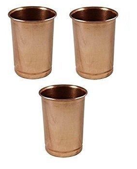 Crafts'man Set of 3 Pure Copper Tumblers Ayurvedic