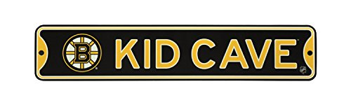NHL Hockey Officially Licensed STEEL Kid Cave Sign-Decor for sports fan bed room! (Boston Bruins) ()