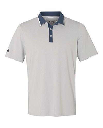 adidas Golf Mens Climacool Performance Polo (A166) -Stone/Min ()