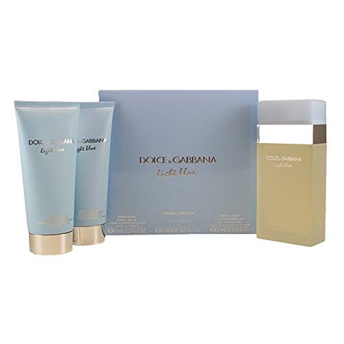 DOLCE GABBANA Light Blue 3 Piece Eau De Parfums Set for Women (Blue Set Gift)