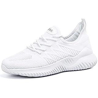 AKK White Nursing Shoes for Women Slip On Walking Tennis Lightweight Gym Jogging Sports Athletic Sneakers Size 6.5