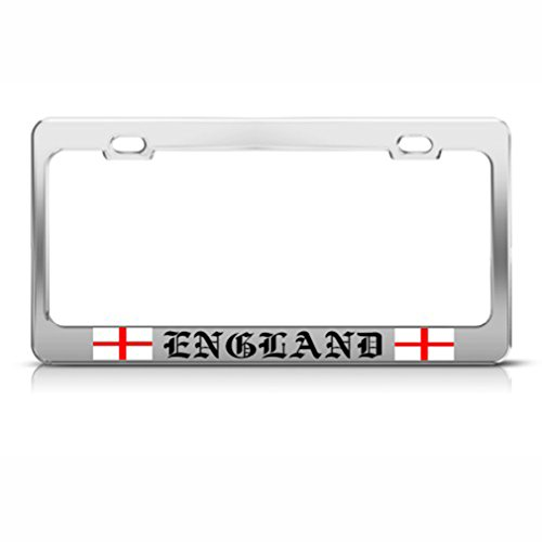 Speedy Pros St. George'S Cross England Flag Country Metal License Plate Frame Tag Holder ()
