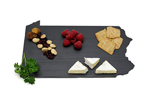 (Custom Pennsylvania Slate Cutting Board, Serving Tray, or Cheese Board- Personalized with Laser Engraving)