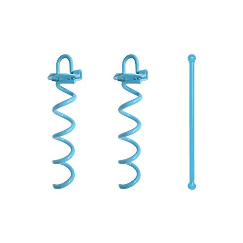 Spiral Ground Anchor, 10 Inch,2 Pack, with Folding Ring for Securing Tents, Canopies, Tarps, Trampoline, Swing Sets, Powder-Coated Solid Steel Earth Auger (Best Motorcycle Ground Anchor)