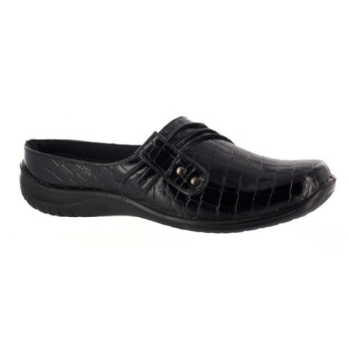 picture of Easy Street Women's Holly Mule,Black Patent Croco,8 W US