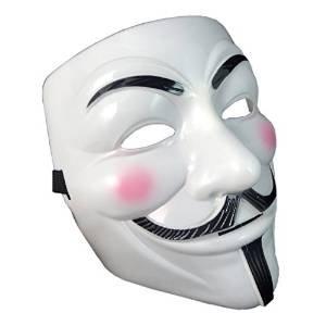 UltraByEasyPeasyStore Máscara de Disfraces Adultos del PVC, Máscara Fantasia Halloween de Vendetta Guy Fawkes Cara