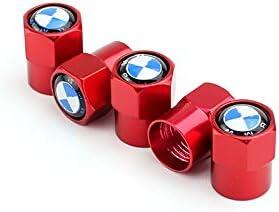 TK-KLZ 5Pcs Metal Car Wheel Tires Valve Stem Caps for BMW GT X1 X2 X3 X4 X5 X6 X7 M 1 2 3 5 6 7 8 Series M2 M3 M4 M5 Z4 i3 i8 Decorative Accessories Red