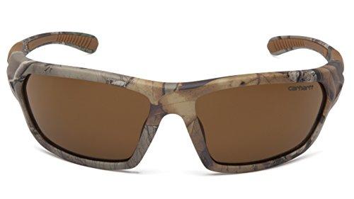 Carhartt CHRT218D Carbondale SAFETY Glasses, Realtree Xtra Frame, Sandstone Bronze Lens 2