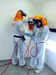 SATA 530058W Reuseable Hooded Paint Suits- Xlarge