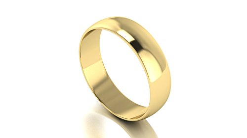 Men's 18k Solid Yellow Gold 5mm Wedding Band