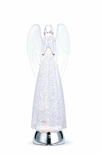 Napco Praying Angel Glitter Clear Light Up 13 Inch Acrylic Decorative Tabletop Figurine