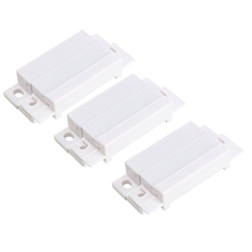 uxcell 3pcs MC-31 Surface Mount Wired NO+NC Door Contact Sensor Alarm Magnetic Reed Switch White by uxcell