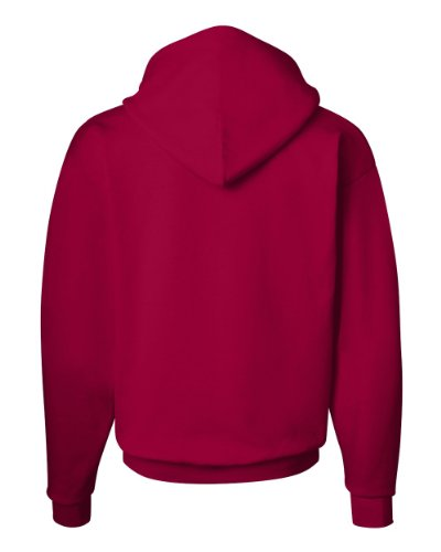 Hanes Men's Pullover EcoSmart Fleece Hoodie, Deep Red, Medium