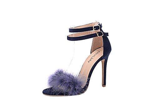 navy blue sandal heels - 9