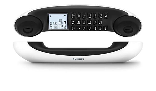 Philips M5601WG/23 - Teléfono Fijo Inalámbrico de Diseño Mira (Retroiluminación, Agenda 100 Favoritos, 16 Horas, Modo Privado, Manos Libres, Gran Alcance, Compatible Red Gap, Eco+) Blanco: Amazon.es: Electrónica