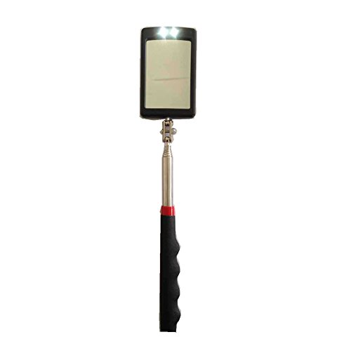 Anbar (Red)Telescoping Lighted Inspection Mirror,LED Lighted Flexible Inspection Mirror 360 Swivel