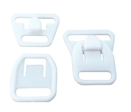 (10 Pairs (40 Pieces) KAMsnaps Nursing Maternity Clips Clasps Plastic Hooks Buckles for DIY Breastfeeding Bras Camis and Tank Tops White 12mm (1/2
