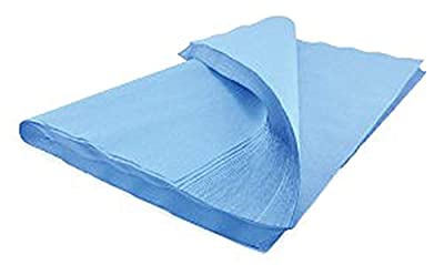 "Sterilization Wrap 24"" x 24"". Case of 500 Blue Autoclave Wraps for instruments and equipment. Natural cellulose. Non-sterile, Latex-free. For Steam and Ethylene Oxide (EO) Sterilization."