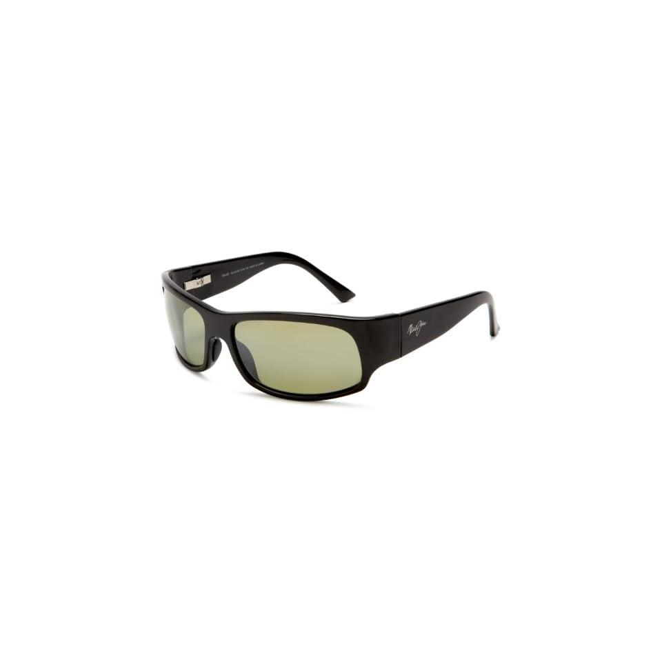 Maui Jim Longboard Rectangular Polarized Sunglasses,Gloss Black Frame/High Transmission Lens,one size