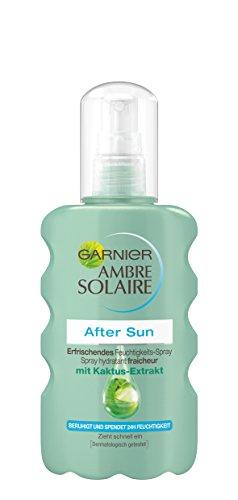 Garnier Ambre Solaire After Sun Spray / Beruhigendes Feuchtigkeits-Spray mit Kaktus-Extrakt (24h Feuchtigkeit - dermatologisch getestet) 1er Pack - 200 ml