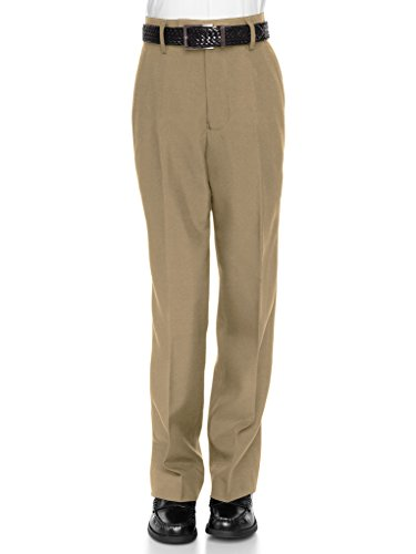 RGM 100% Dacron, Flat Front, Boys Slim Dress Slacks Tan 6 (Bose Church Speakers)