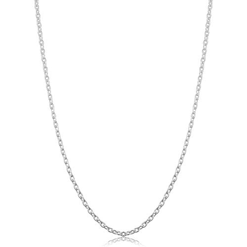Sterling Silver Round Cable Chain Necklace (2.1 mm, 24 inch)