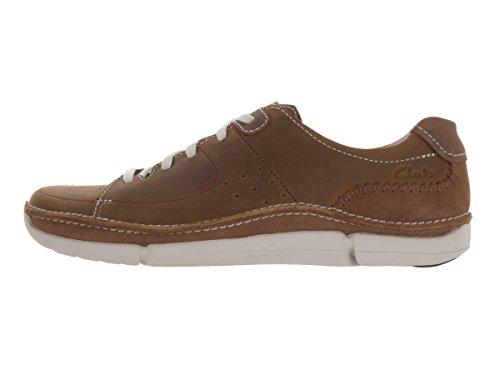Clarks Uomo Trikeyon Mix Casual Scarpe, Marrone (Tan Leather), 44,5 EU M