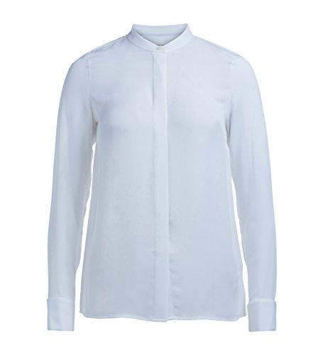 Camisa Michael Kors blanca de manga larga y cuello japonés Blanco