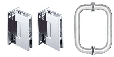 C.R. LAURENCE GENS3CH CRL Polished Chrome Geneva Shower Pull and Hinge Set (Chrome Door Handles And Hinges compare prices)