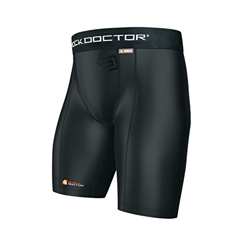- Shock Doctor Men's Compression Short with Cup Pocket (Large, Black)