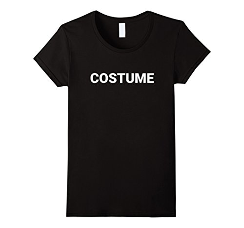Womens Simple Halloween Costume Text T-Shirt Medium (Simple Basic Halloween Costumes)