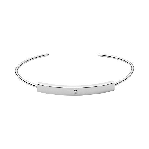 Skagen Women's Helena Silver-Tone Genuine Diamond Bangle Bracelet, One - Silver Skagen Bracelet