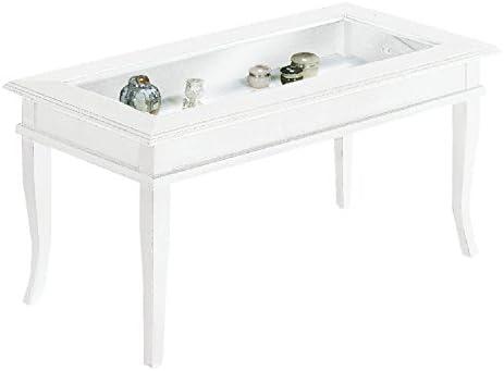 Fashion Commerce Tablero Mesa, Cristal, Blanco, 100 x 50 x 45 cm ...