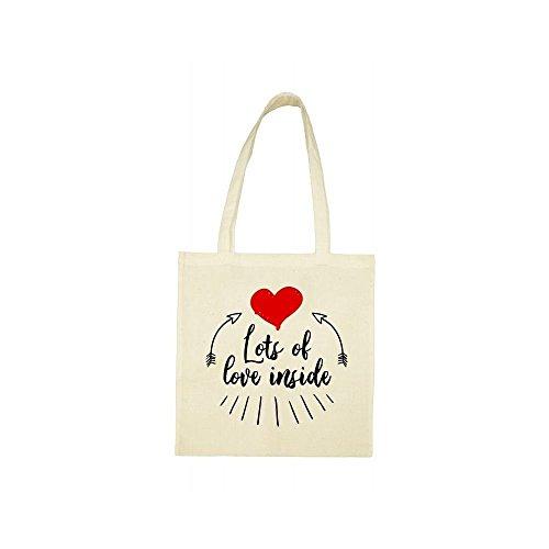 love inside beige lots bag of Tote wIqaWFCT