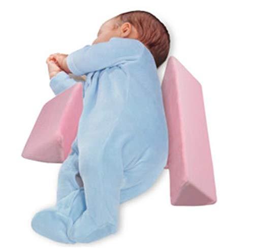 QYSSi Baby Side Sleep Pillow Newborns Washable Nursing Pillows Anti-Spitting Milk (Pink)