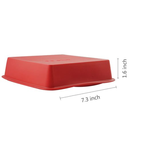 7.3×1.6 inch Food Grade Silicone Square Bread Cake Mold Baking Pan