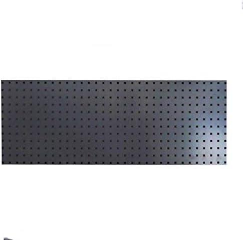 パンチングボード 有孔ボード メタルフックボード角穴ウォールコントロールフックボード標準工具収納のための家のガレージ ガレージ/自動車修理店/庭用 (Color : Black, Size : 120x45.5cm)