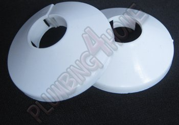 Cubre tubo de radiador, de PVC, 2 piezas, color blanco, de 22 mm x 2.: Amazon.es: Hogar